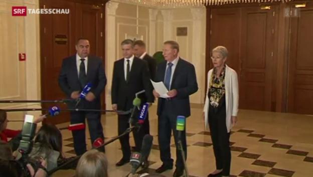 Video «Pufferzone in der Ostukraine – Signal auf dem Weg zum Frieden?» abspielen
