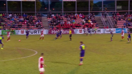 Video «Fussball: Schweizer Cup, 1. Runde: Solothurn-Thun, Tor Munsy 0:3» abspielen