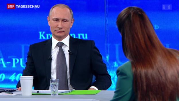 Video «Putins Show am Fernsehen» abspielen