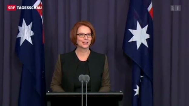 Video «Australiens Regierungschefin von eigener Partei fallen gelassen» abspielen