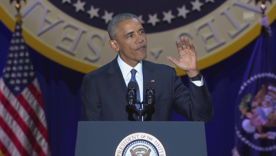 «America is a stronger place»: Obama nimmt Abschied (englisch)