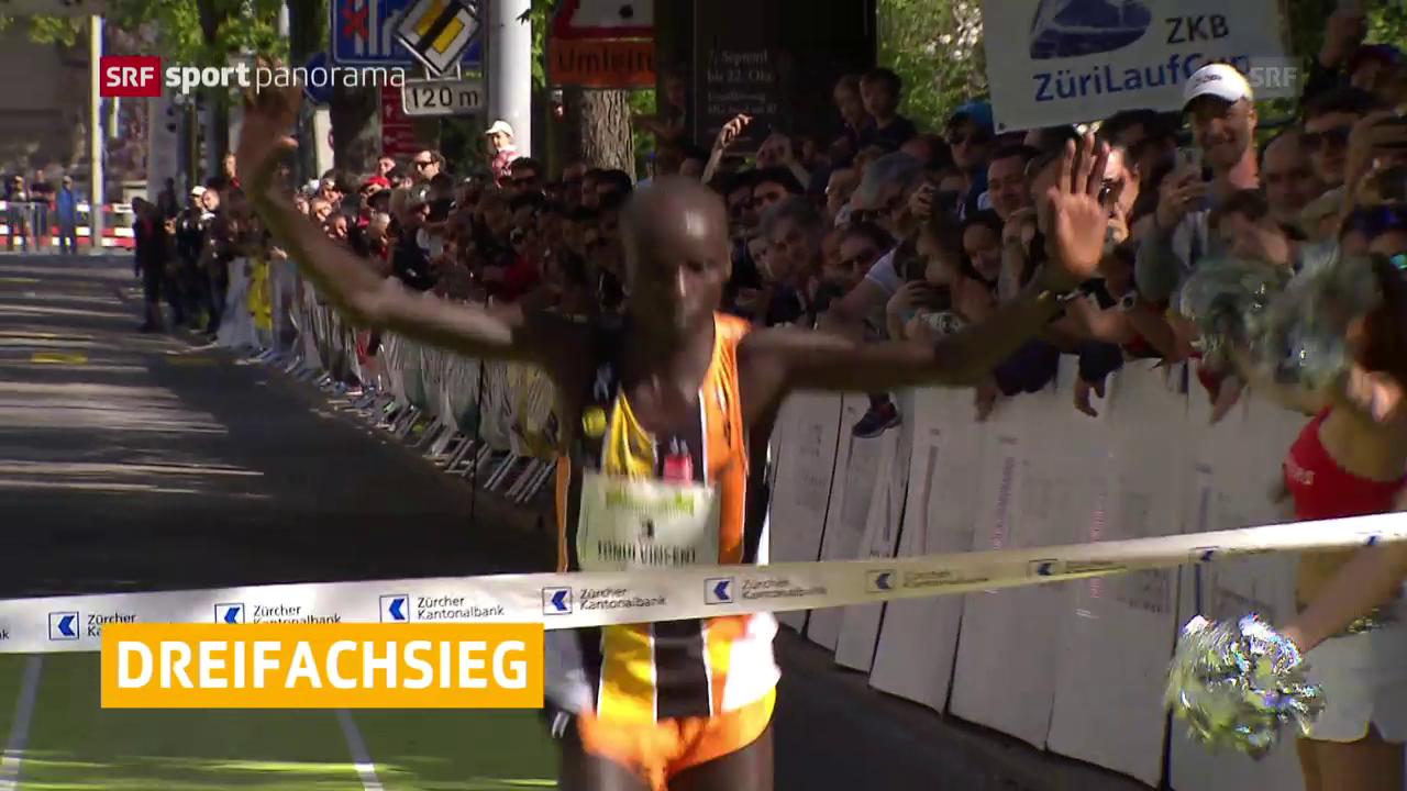 Kenianischer Dreifachsieg in Zürich