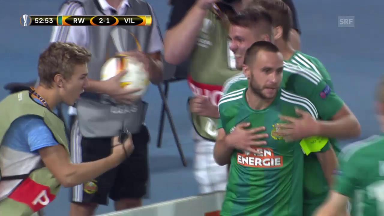 Fussball: Europa League, Rapid - Villarreal