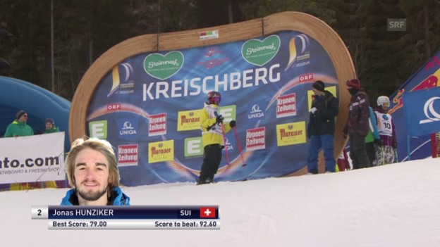 Video «Freeski: Freestyle-WM – Slopestyle 3. Final-Lauf Jonas Hunziker» abspielen