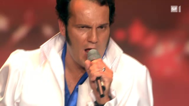 Elvis-Imitator Peter Müller mit «I Can't Help Falling in Love»
