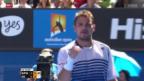 Video «Tennis: Australian Open, Wawrinka-Nishikori» abspielen