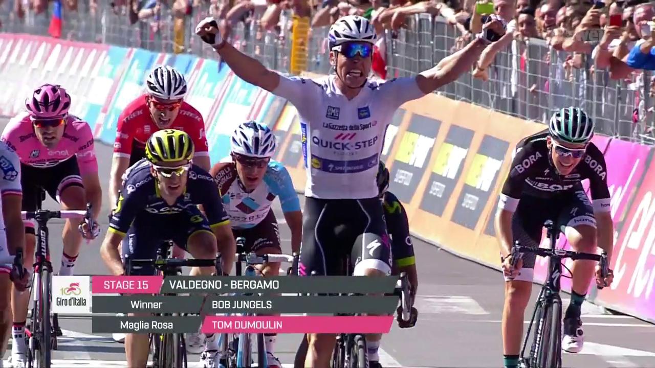 Jungels gewinnt 15. Giro-Etappe im Sprint
