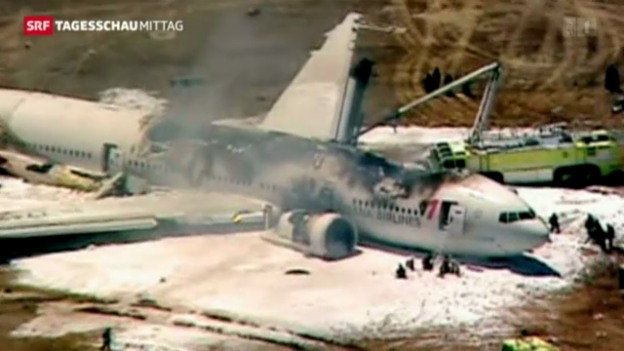 Video «Flugzeugabsturz in San Francisco» abspielen