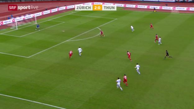 Video «Fussball: Super League, Zürich - Thun («sportlive», 16.02.2014)» abspielen
