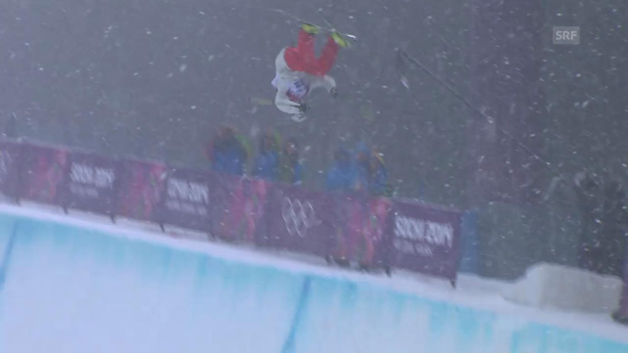Ski Freestyle: Qualifikation Halfpipe, der 2. Run von Nils Lauper (sotschi direkt, 18.02.2014)