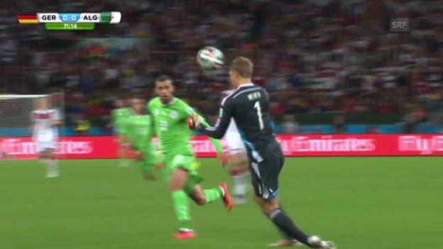 Video «Fussball: WM, Rettungstaten Neuer gegen Algerien» abspielen