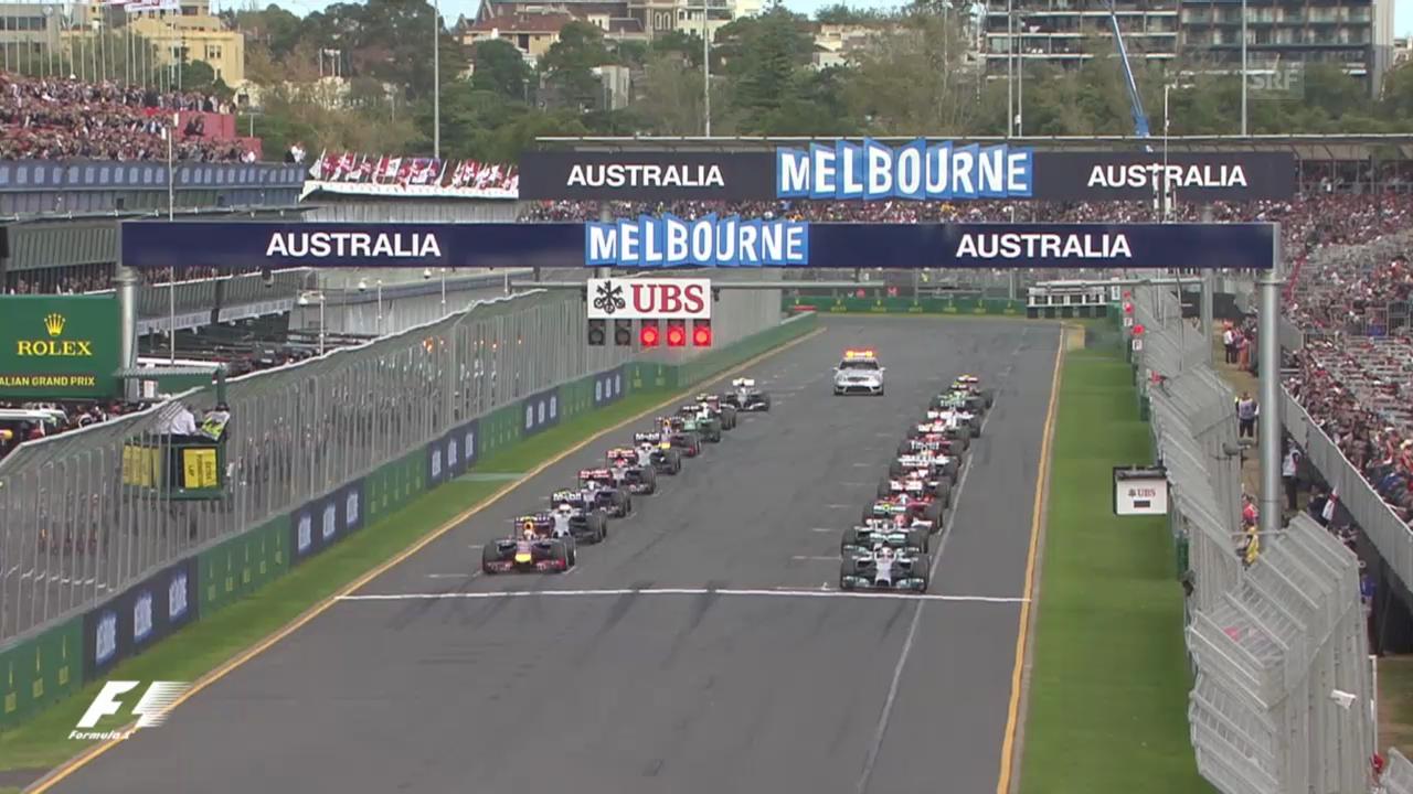 Formel 1: GP Melbourne, die Startphase («sportlive», 16.03.2014)