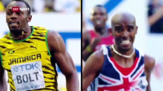 Video «Bolt gegen Farah - kommt das Super-Duell zustande?» abspielen