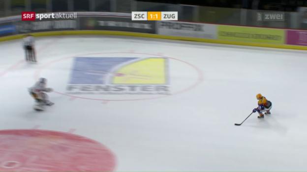 Video «Die ZSC Lions gewinnen Spitzenspiel gegen Zug» abspielen