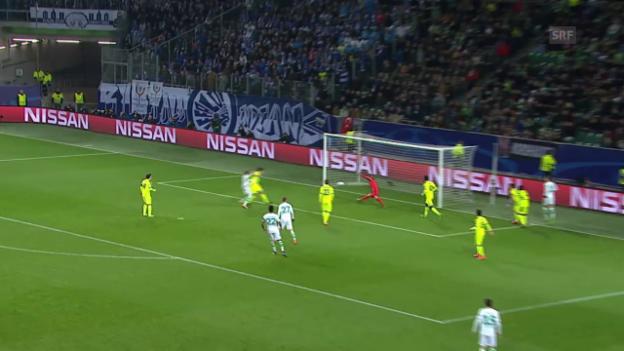 Video «Wolfsburg gewinnt mit Minimalleistung gegen Gent» abspielen