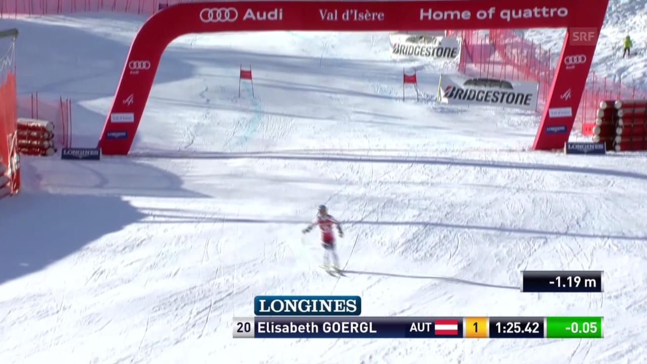 Ski alpin: Super-G in Val d'Isère, Elisabeth Görgl