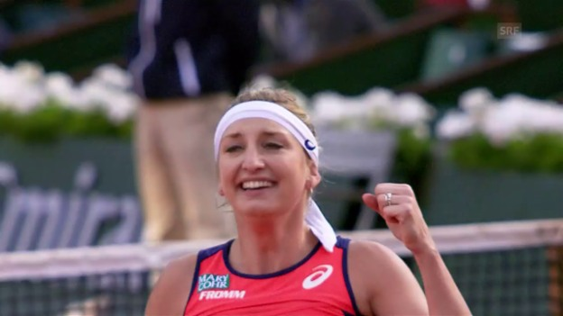 Video «Live-Highlights Bacsinszky - Mladenovic» abspielen