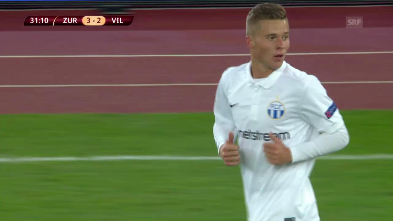 Fussball: EL, FCZ-Villarreal, Szenen Nico Elvedi