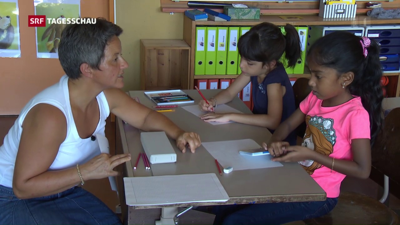 Flüchtlingskinder in Schweizer Schulen