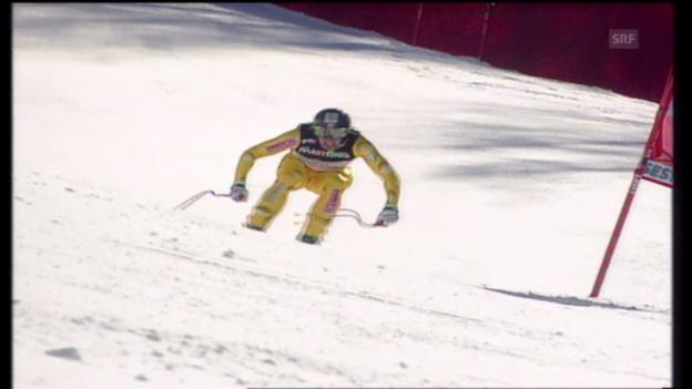 Video «WM 1997: Bruno Kernen holt Abfahrts-Gold» abspielen