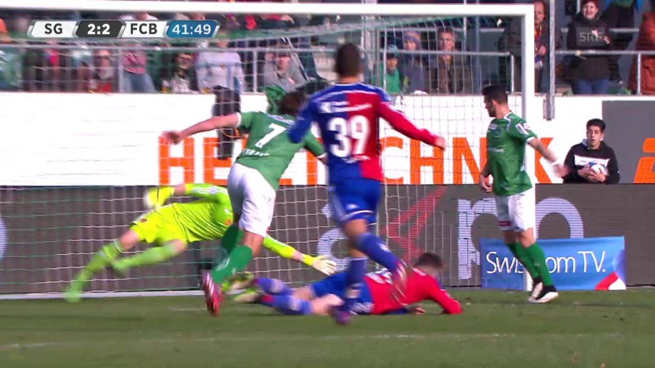 Fussball: Super League, St. Gallen - Basel, das 2:2