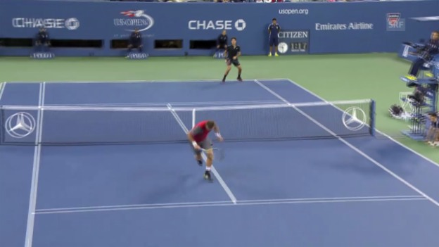 Video «Tennis: Highlights Federer - Groth» abspielen