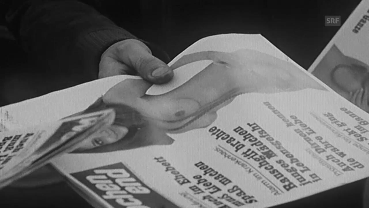 Pornographie? Zensur an der Grenze («Antenne», 4.3.1971)