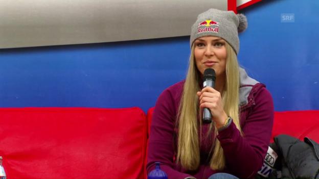 Video «Lindsey Vonn spricht über ihre Rückkehr» abspielen