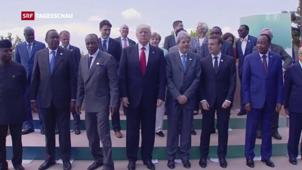 Video «Wenig Konsens am G7-Gipfel» abspielen