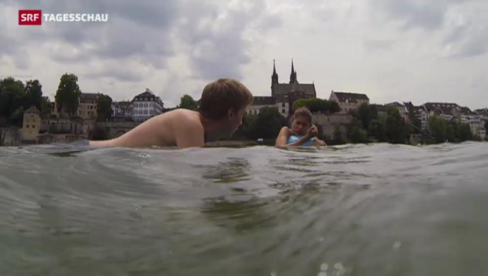 Flussschwimmen wird zum Volkssport