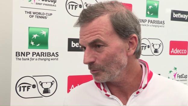 Video «Heinz Günthardt vor dem Fed-Cup-Halbfinal» abspielen