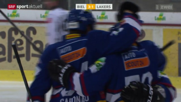 Video «Eishockey: NLA, Biel - Lakers» abspielen