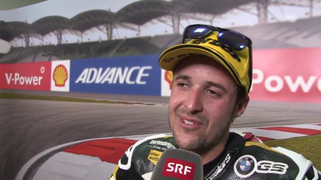 Video «Motorrad: Moto2 GP Malaysia, Interview mit Tom Lüthi» abspielen
