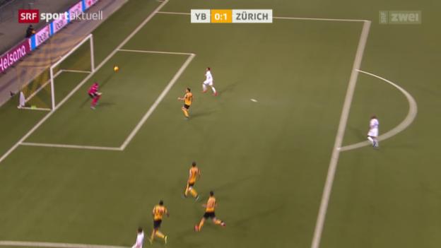 Video «Fussball: FCZ wirft YB aus dem Cup» abspielen