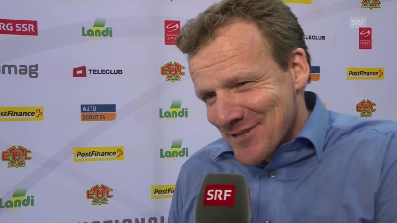 Eishockey: NLA, Biel - Lausanne, Interview mit Kevin Schläpfer