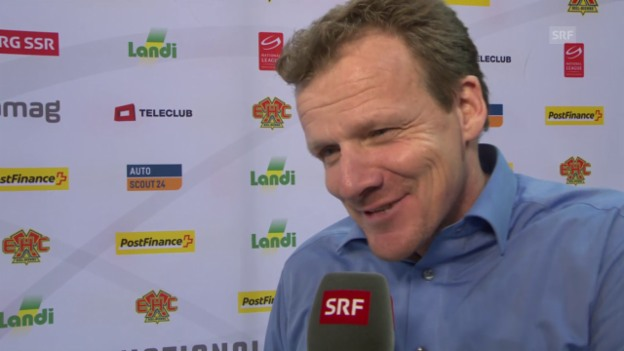 Video «Eishockey: NLA, Biel - Lausanne, Interview mit Kevin Schläpfer» abspielen