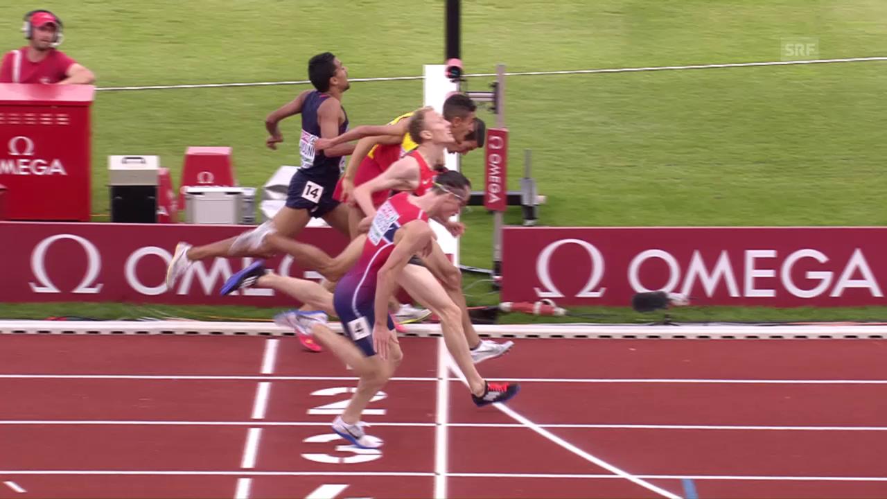 Das enge Finish im 5000-m-Rennen