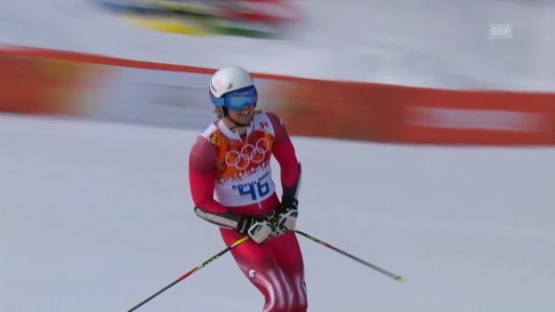 Video «Ski: Riesenslalom Männer Sotschi, 1. Lauf von Mauro Caviezel (sotschi direkt, 19.2.14)» abspielen