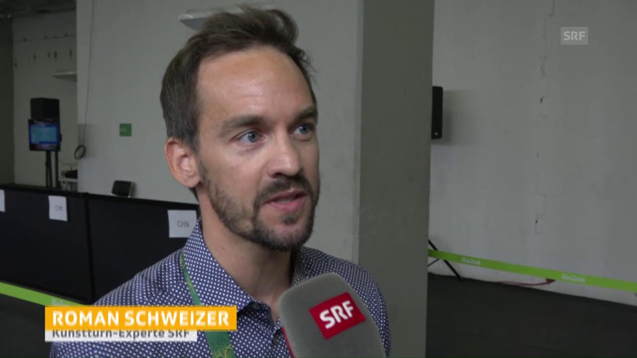 Roman Schweizer vor Steingrubers Bodenfinal