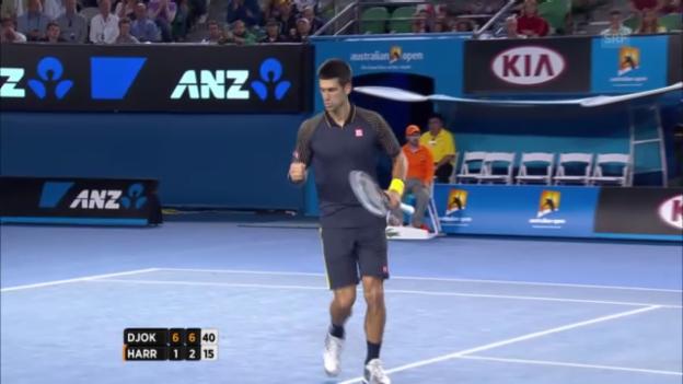 Video «Australian Open: Novak Djokovic - Ryan Harrison» abspielen