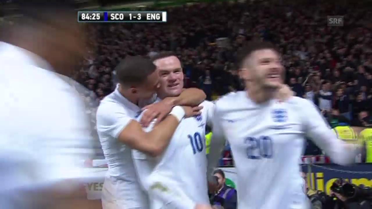 Fussball: Testspiel Schottland - England (Quelle: SNTV)
