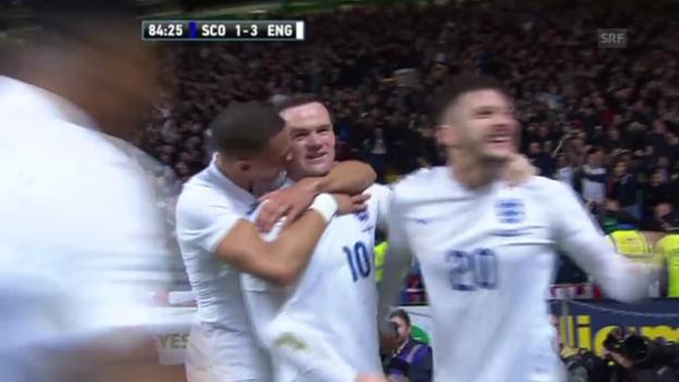Video «Fussball: Testspiel Schottland - England (Quelle: SNTV)» abspielen