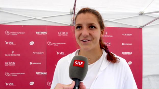 Video «Das sagt Masarova zu ihrem Coup gegen Jankovic» abspielen