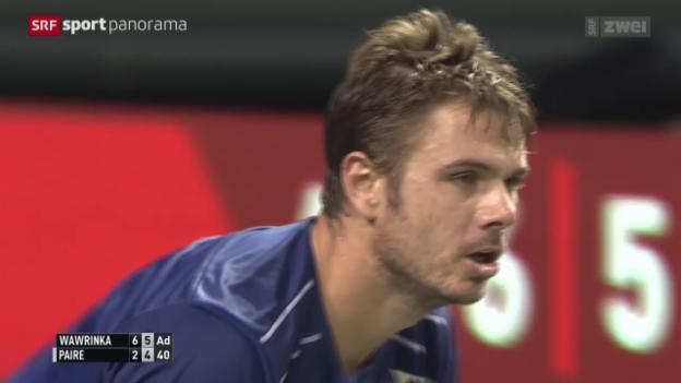 Video «Tennis: Turniersieg für Wawrinka in Tokio» abspielen