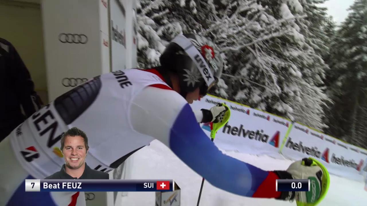 Ski: Weltcup, Super-Kombination, Slalom Feuz