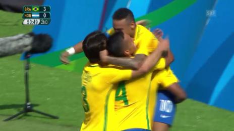 Video «Marquinhos erhöht gegen Honduras auf 4:0» abspielen