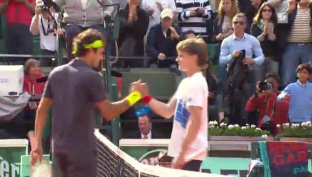 Video «French Open: Highlights Federer - Goffin («sportlive»)» abspielen