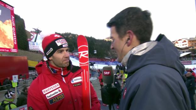 Video «Ski alpin: Super-G in Gröden, Interview mit Didier Défago» abspielen