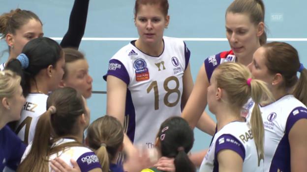 Video «Volleyball: Pre-Playoffs, Satzbälle Köniz - Volero» abspielen