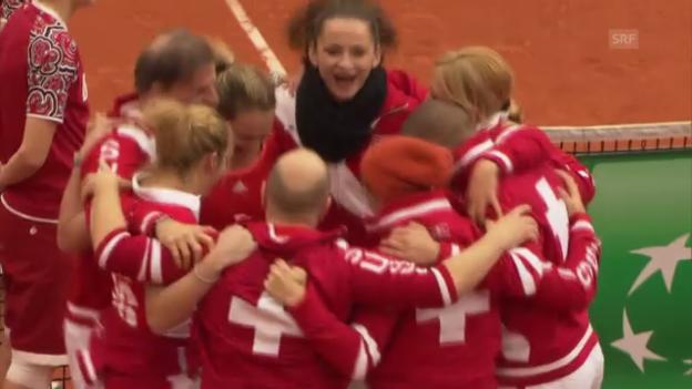 Video «Fedcup Schweiz-Belgien» abspielen